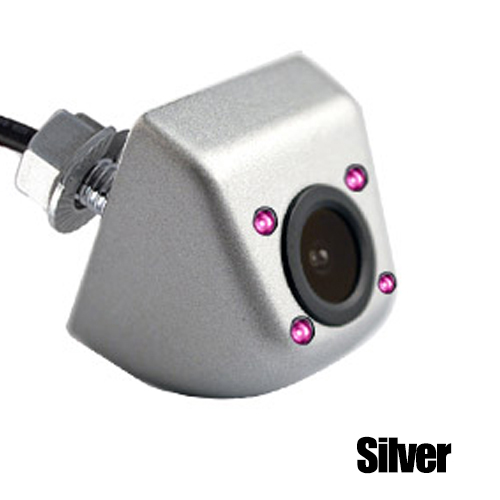 Hipppcron Автомобильная камера заднего вида 4 светодиодный монитор ночного видения заднего вида Авто парковочный монитор CCD водонепроницаемый 170 градусов HD видео - Название цвета: 104 Infrared Silver