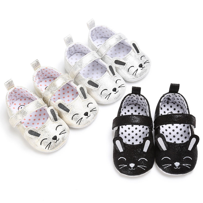 Cute Baby Girls Sandals Anti-Slip Cute Crib Shoes Prewalker Soft Sole Newborn Infant