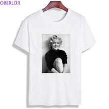 aba3a403f931f8 Marilyn Monroe moda kobiety Tshirt Retro w stylu Vintage Plus rozmiar  kobiety odzież 2019 z krótkim rękawem, dekolt w kształcie .