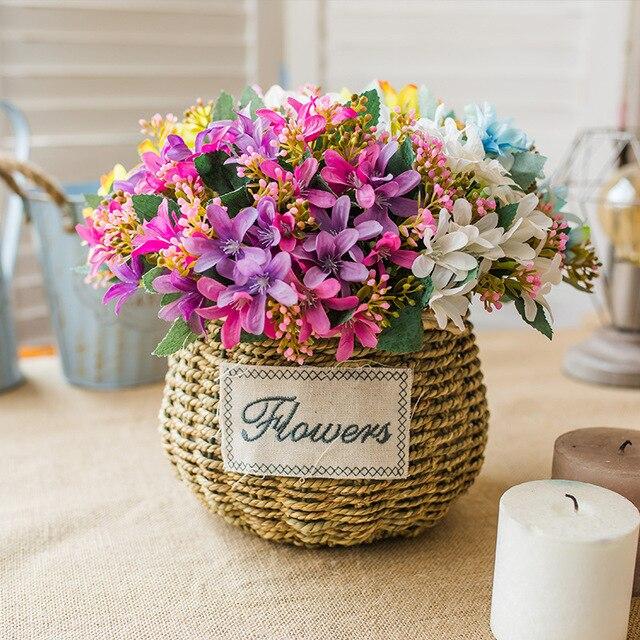 Sztuczne Kwiaty Europejski Styl Bukiety Kwiat żonkil Ogród Dekoracje