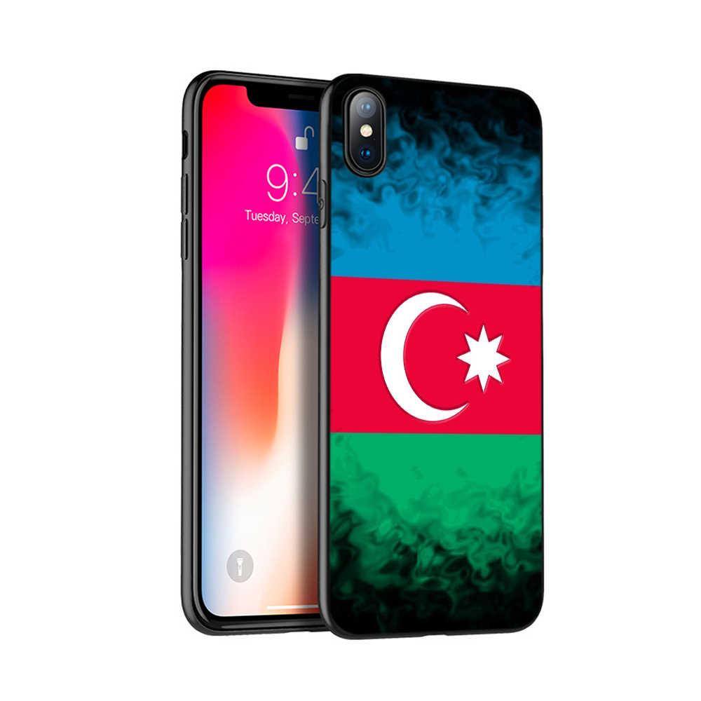 Noir tpu étui pour iphone 5 5s se 6 6s 7 8 plus x 10 housse en silicone pour iphone XR XS 11 pro MAX cas l'azerbaïdjan syrie israël drapeau