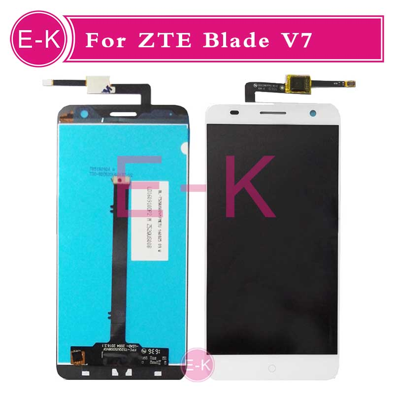 DHL EMS 10Pcs/lot High quality 5.2 For ZTE Blade V7 LCD Display + Touch Screen Digitizer Assembly Replacement Free Shipping dhl ems 10pcs high quality 5 0 for acer