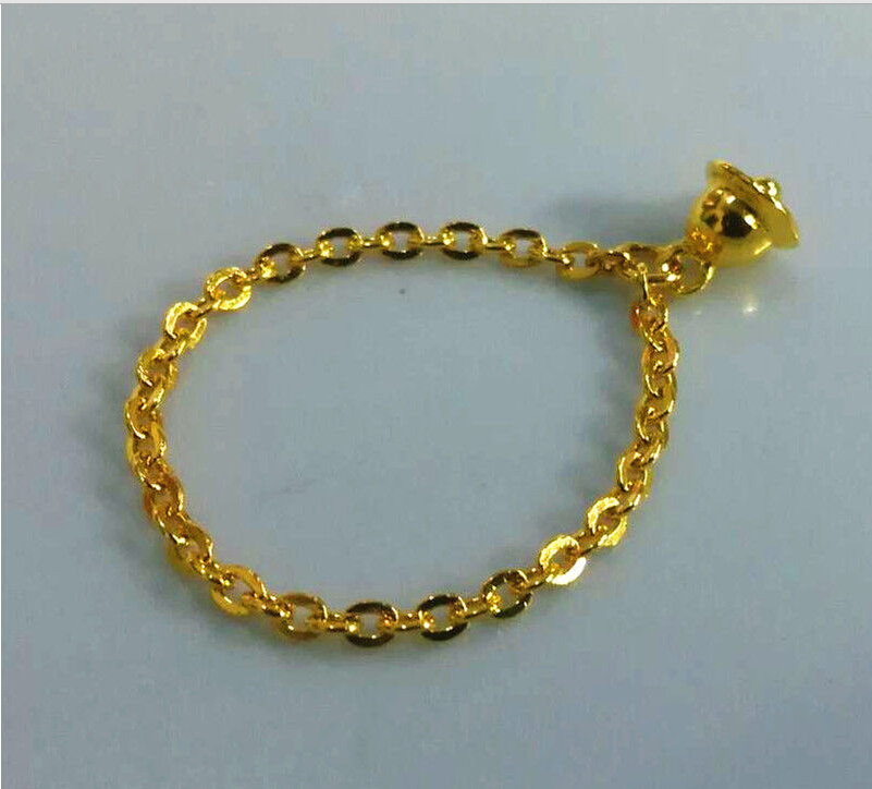 Pure 999 Solid 24K Yellow Gold Ring /Lucky Belling Women Ring/ USA Size:5 diy flag large 1 5 meter size yellow