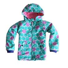 UK Original Mini BODEN Children's Jacket, Colorful Flower Girls Showerproof Windbreaker, Kids Warm Cheerful Christmas Overcoat
