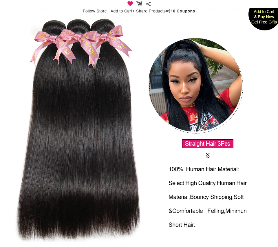ishow straight remy human hair weave (5)
