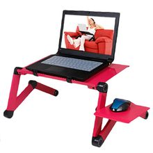 0.48m Portable Foldable Aluminum Alloy Laptop Computer Notebook Table Stand Desk Bed Tray Enjoy Fun in Home No fan(China)