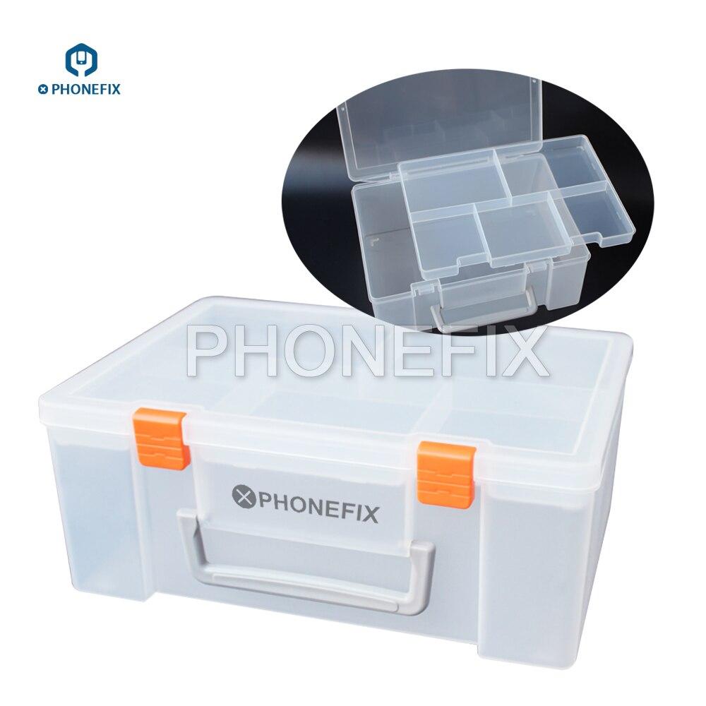 PHONEFIX Multifunction Plastic Mobile Phone Repair ToolBox for Screwdriver Tools Tweezers Soldering Paste Component Storage Box|Hand Tool Sets| |  - title=