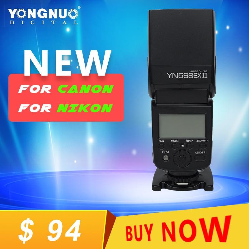 YongNuo YN-568EX II YN568EX II Wireless TTL HSS Flash Speedlite for Canon 5D3 5D2 6D 7D For Nikon D800 D750 D7100 yongnuo yn568ex ii wireless 4 channel ttl hss flash speedlite 1 8000s for canon e ttl e ttl ii camera yn568ex for nikon d7100