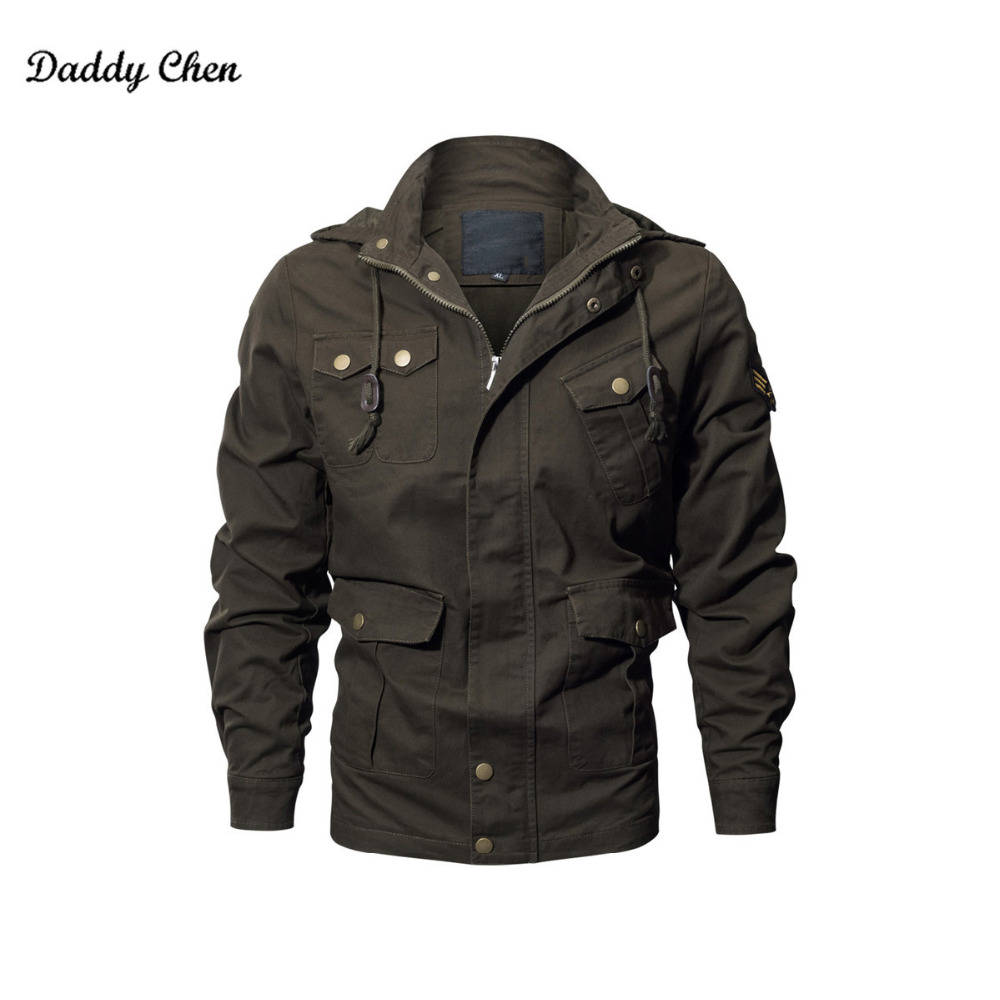 Men Winter Military Jacket Army AIR FORCE Thermal Hood Jacket Coat Cotton Windbreaker Male Windproof Clothe Brand cothing