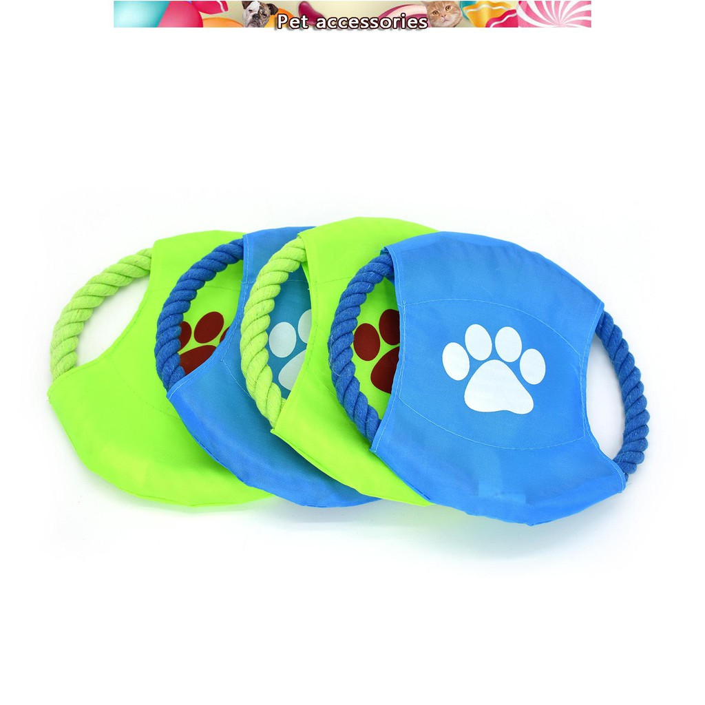 Pet Flying Disc Interactive Toy Pet Cotton Rope Outdoor Throwing Toy Biting