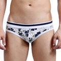 New Men Leisure Romantic Breathable Soft Briefs Underwear Men's Flower Printed Or Stripe Printed Shorts Briefs High Quality