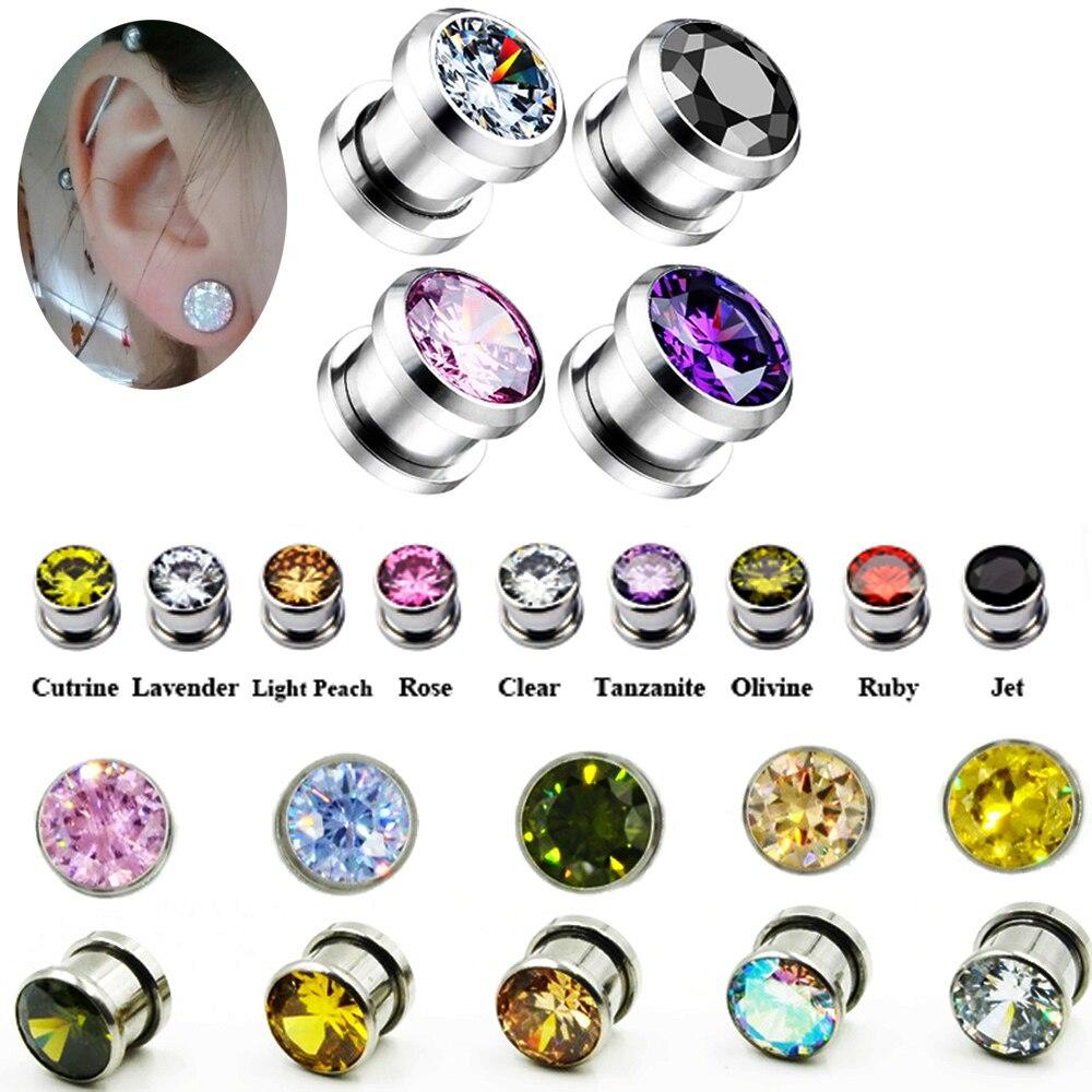 10 Pieces Logo Internally Threaded Screw fit Flesh Tunnel Ear Plug lot Sets Body Jewelry Piercing 5 Pairs