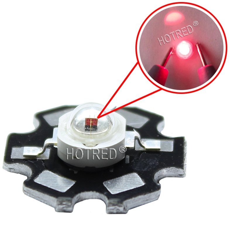 20PCS 730NM 740nm 3W Far Red LED Far Infrared LED 3W 720NM IR LED  With 20mm Star Platine Base For For LED Project DIY