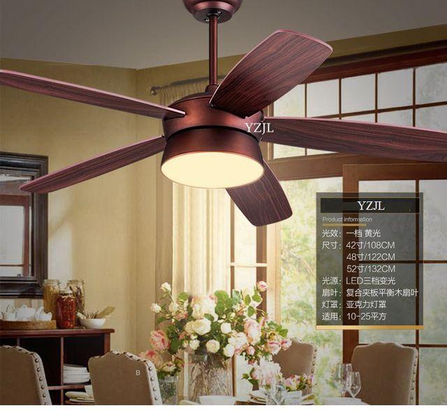Amerikanische Fan Anhänger Deckenventilator Licht Wohnzimmer Schlafzimmer  Vintage Antike Fernbedienung Fan Anhänger Led Licht 52 Zoll