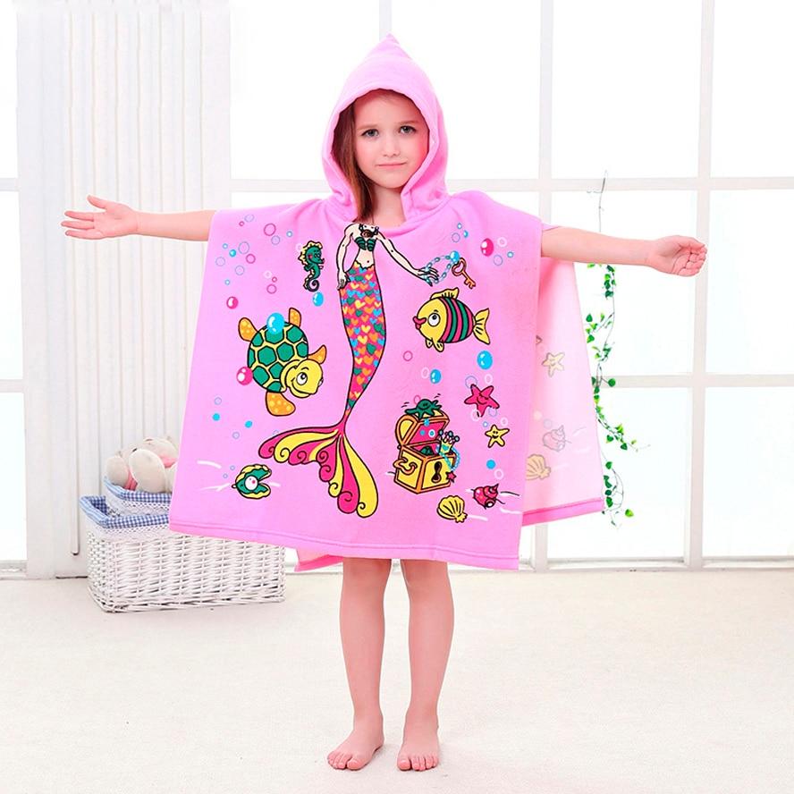 6-13 år gammal barn tecknad babyhatt badhandduk badrock bomull terry - Barnomsorg - Foto 2
