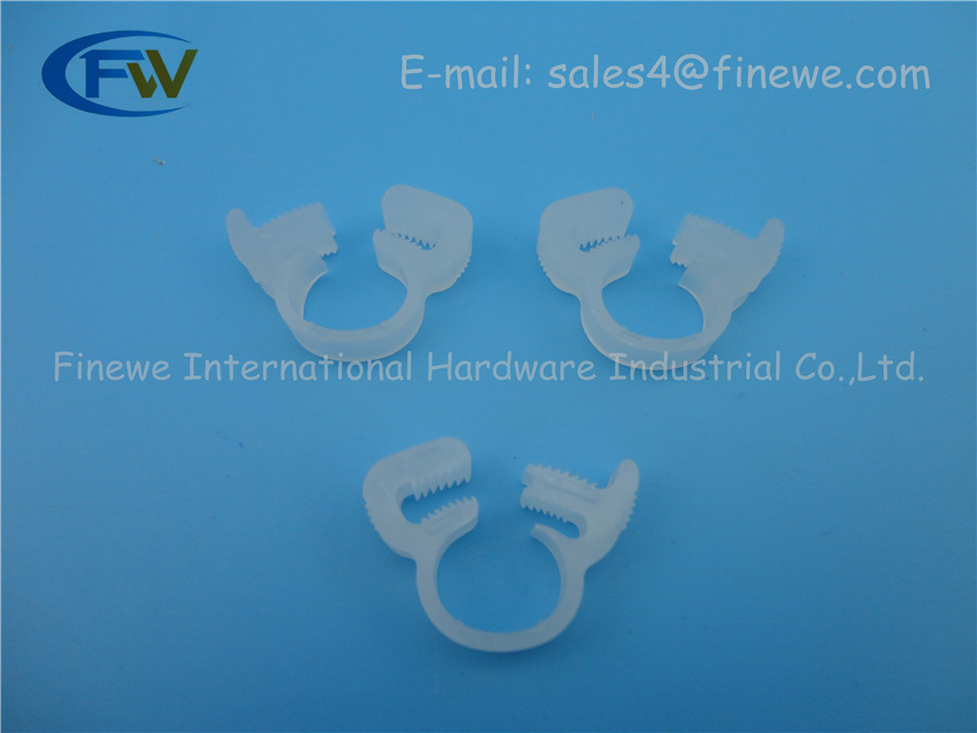 Hot Sale Nylon Platic White Fuel Hose Cable Wire Tube Clamps Clip ...