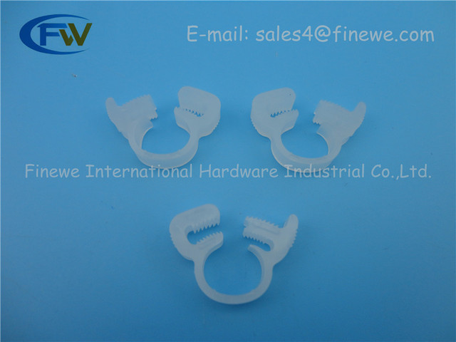 Nylon Platic White Fuel Hose Cable Wire Tube Clamps Clip For 11.4 ...
