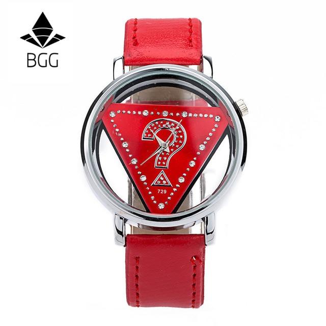 Σκελετό Τρίγωνο ρολόι Γυναίκες Μόδα - Γυναικεία ρολόγια - Φωτογραφία 3