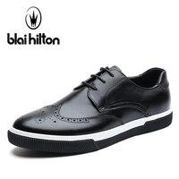 Blaibilton Casual Men Shoes Brogue Classic 100 Genuine Leather Fashion Male Footwear Mens Luxury Designer Breathable