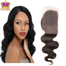 "Malaysian virgin Hair Cheap malaysian body wave Lace Closure 4×4 Free, middle part 10""-16"" human Hair Bleached Knots closure"