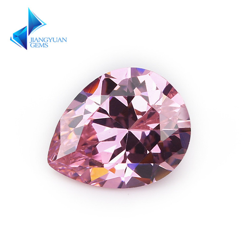 50 pçs 2x3 13 13x18 forma de pêra 5a rosa cz pedra pedras sintéticas zircônia cúbica para jóias