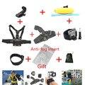 Conjunto de Acessórios Cinta de Cabeça No Peito Gopro Monopé Bobber Flutuante de Montagem para ir pro Hero5 3 4 3 + câmera sjcam sj4000 xiaomiyi 4 k