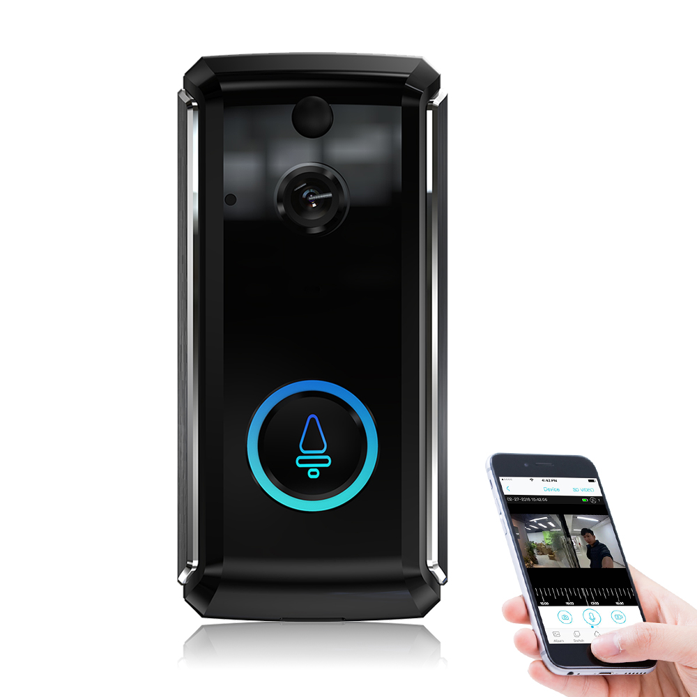 Wireless Video Doorbell Camera WIFI 1080P Doorbell Home Security Camera With Cloud Service IR Night Vision PIR Motion Detection