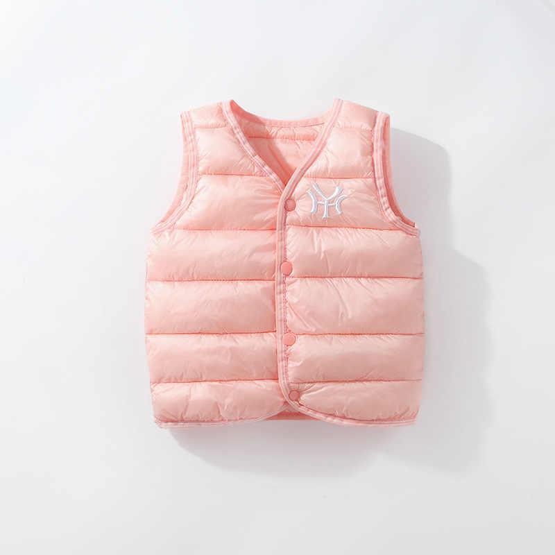 Otoño Invierno chaleco para niños y niñas Chaqueta de algodón chaleco chico chaleco bebé chaleco sólido único Breasted abrigos