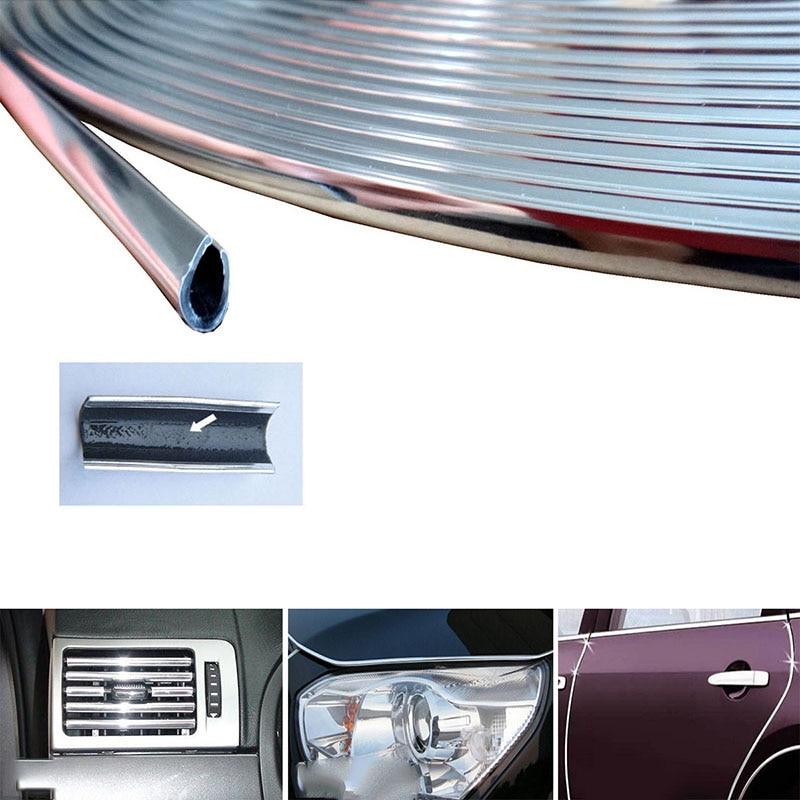 6 Meter Car Chrome Stying Body Door Edge Moulding Trim