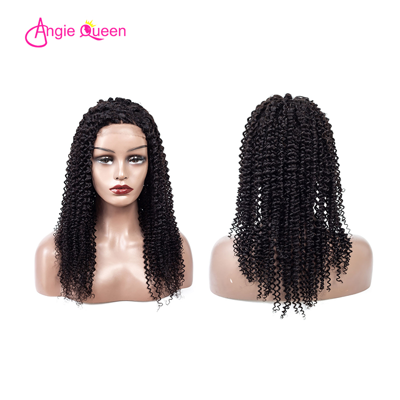 ANGIE QUEEN Indian Remy Hair Kinky Curly Closure Wig 4x4 Lace Closure Human Hair Wigs Kinky Curly Wigs For Women Wig