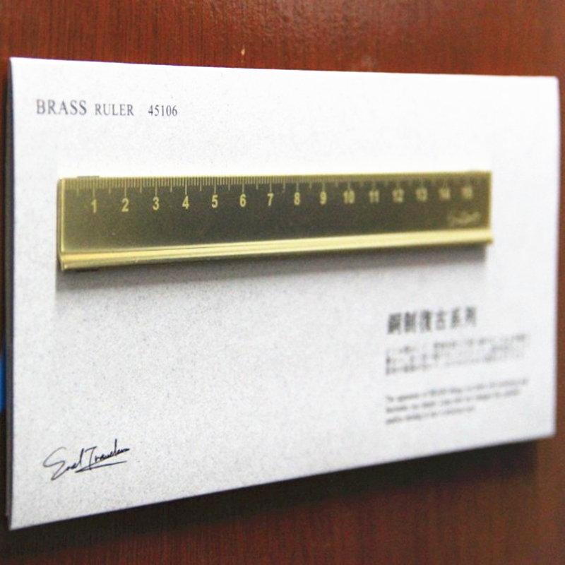 (ET)ERAL Traveler's Brass Scale Ruler. Very Beautiful Retro Travel Stationery Series. Ancient Chinese Style Stationery No Oxidat