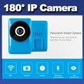 2016 Câmera de Ação Esporte 180 graus fisheye panorama vista Inteligente Na Webcam Mini câmera IP Sem Fio Wifi CCTV Camera Noite Versão