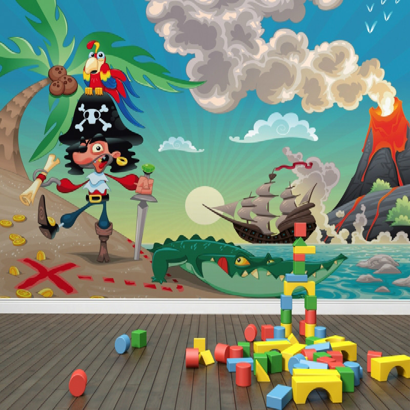 achetez en gros pirate papier peint mural en ligne des grossistes pirate papier peint mural. Black Bedroom Furniture Sets. Home Design Ideas
