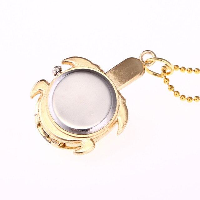 #5001Turtle Shape Unisex Antique Case Vintage Brass Rib Chain Quartz Pocket Watch DROPSHIPPING New Arrival Freeshipping Hot Sale