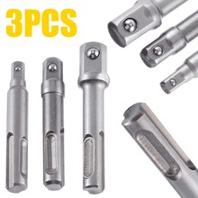 3Pcs 1/2 3/8 1/4 Sds Drill Bits Socket Nut Driver Adapter Mini Bit Chuck For Plus Hammer Drills