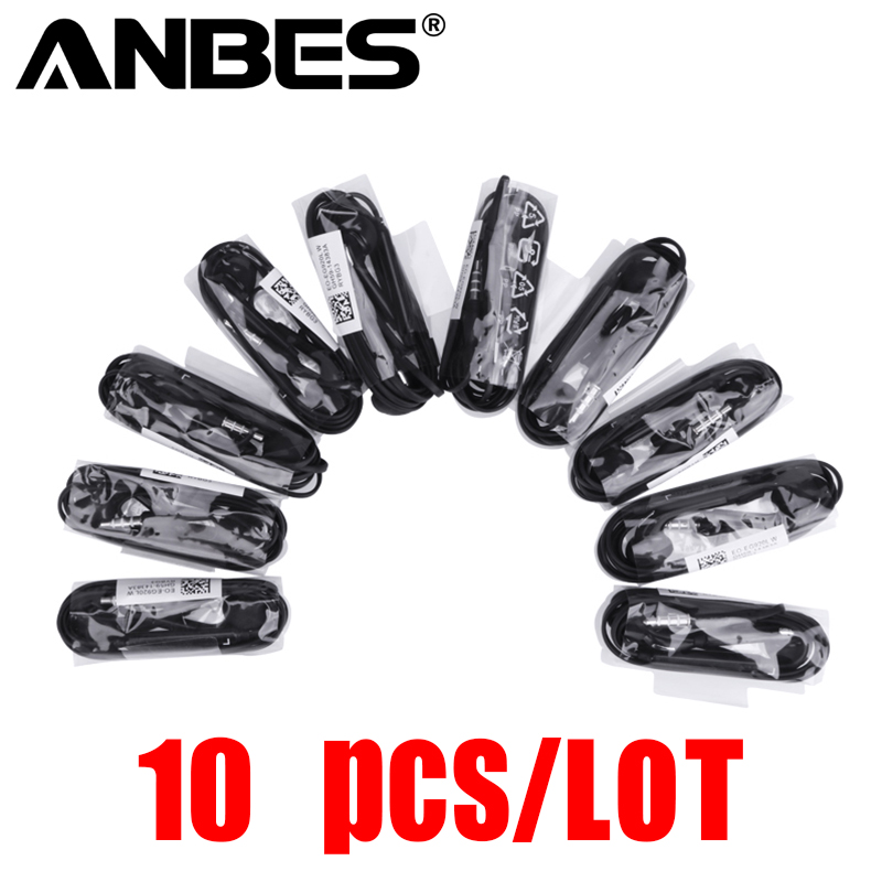 Anbes 10 pieces/lot For s6 Earphone in-ear stereo earpiece with microphone for MP3 MP4 Xiaomi Samsung Huawei Headphone