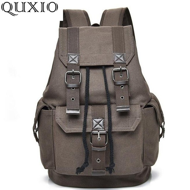 399fdc79e1e5d .2018 New Vintage Style Men Backpacks High Quality Canvas School Bags  Backpacks Brand Designer Fashion Travel Bag Casual HB141-D