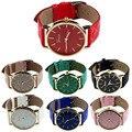 Nova Unisex genebra Relógios Das Mulheres PU Couro Quartz Relógio de Pulso para as mulheres Senhoras Relógio Temporizador Relógio relojes mujer relogio feminino