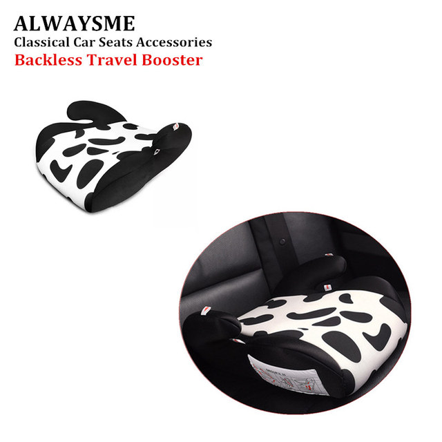 ALWAYSME Portable Backless Travel Booster Car Seat Thicken Cushion 3C CCC Cert Number 2015012207808245 For Toddler