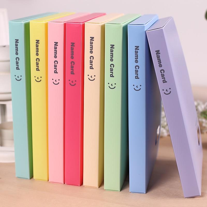 1 Teil/los Candy-farbe-abdeckung 60-case-for-120-card Visitenkartenhalter Und Karton Für Schule Schreibwaren & Büro, Mpc00009