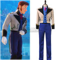 Snow  Prince Hans Suit Coat Tuxedo TUX Cosplay Costumes Jacket Vest Pants Shirt Halloween Outfit uniforms For Men