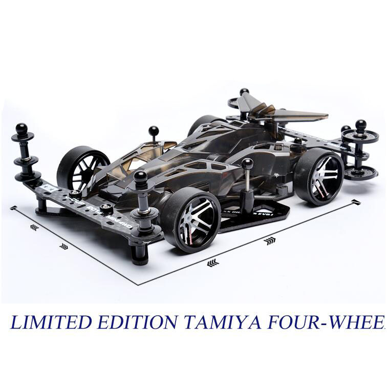 Free Shipping Speed MAX Tamiya MINI Four-wheel Drive Car Model (Not Assembled) SXX Chassis EVO Set Mini 4WD Car Model 1 24 00750 assembled model car mclaren f1 gtr 1998 le