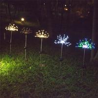 2 قطعة 90LED لوازم حديقة بالطاقة الشمسية ضوء عيد الميلاد أضواء في الهواء الطلق الألعاب النارية LED مصباح حديقة ALI88