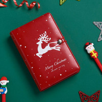 Coloffice 1PC Christmas Retro Diary Notebook Student Notepad Elk Hand Book Office School For Drawing Painting Paper Weekly Gift
