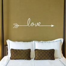 Love Arrow Decal Living Room Bedroom Vinyl Carving Wall Decal Sticker