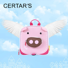 CERTAR'S Waterproof Backpack Pink Pig For Children Anti Lost Wrist Link Collar Toddler Backpack Baby Wrist Leash Baby Walkers