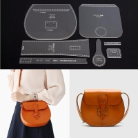 DIY Leathercraft Acrylic Leather Shoulder Bag Handbag Pattern Stencil Template