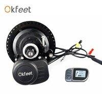 Okfeet Бесплатная таможенных пошлин TSDZ2 midmotor V ЖК дисплей 6 36/48 В 250/350/500 Вт электрический велосипед комплект крутящий момент Сенсор ЖК дисплей ди