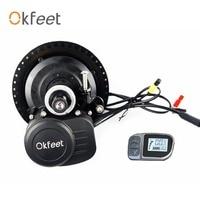 okfeet TSDZ2 Midmotor VLCD6 Tongsheng 36V /48V 250W/350W/500W Electric Bicycle Kit Torque Sensor LCD display
