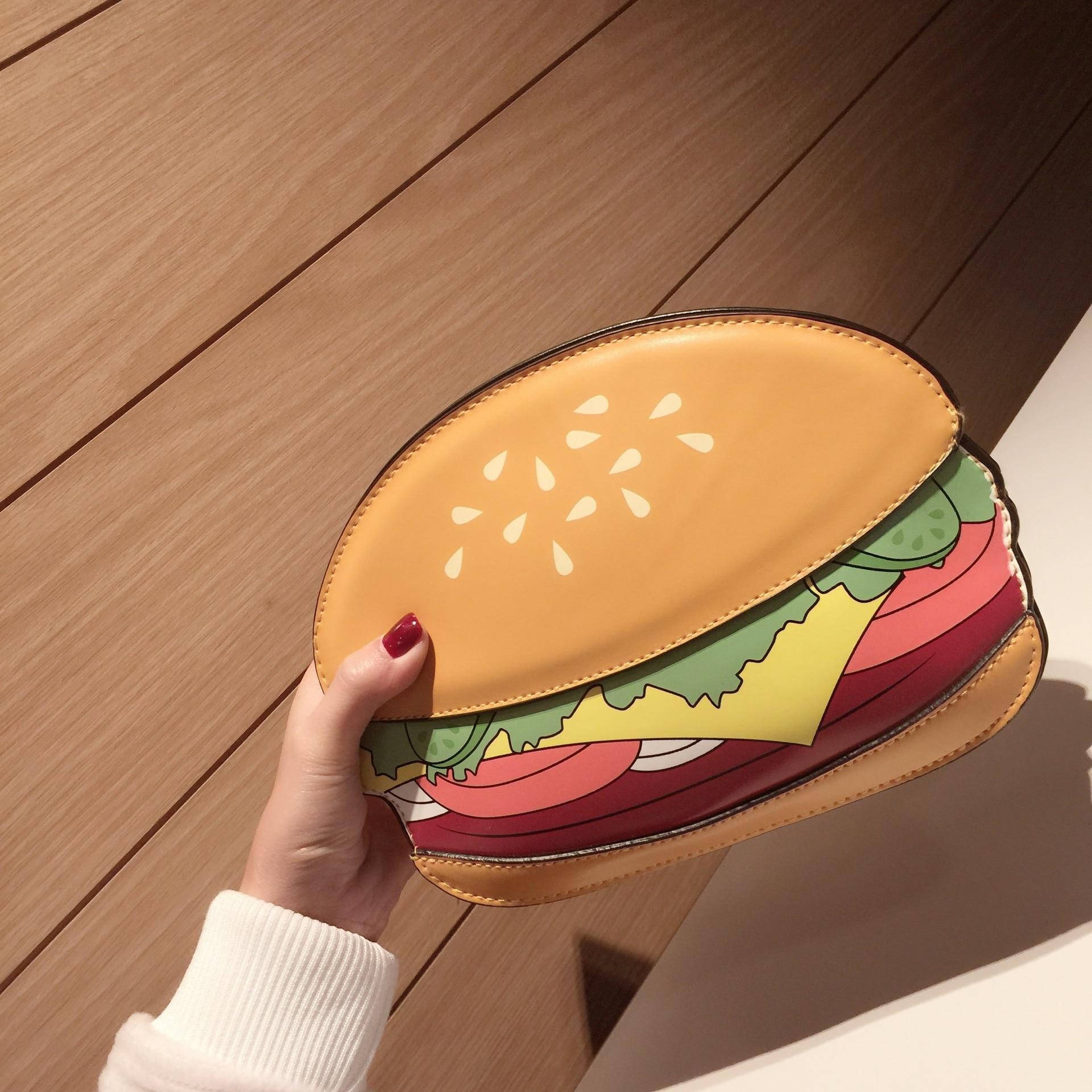 3D милый мультфильм Для женщин плеча сумочку гамбургер мороженое торт Сумки цепочка клатч через плечо Обувь для девочек Сумка Арбуз